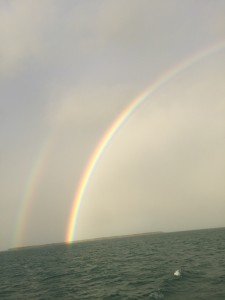 Amazing double rainbows